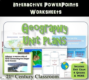 Geography Unit Lessons