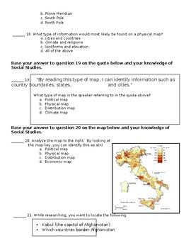 Geography Unit Test (S.S. Framework Aligned)