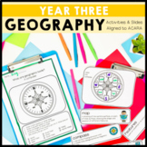 Geography Unit Year 3 Maps, QR codes, worksheets and posters aligned to HASS