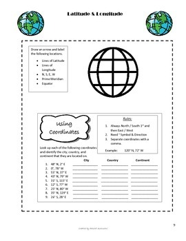 Geography Unit for Interactive Notebooks
