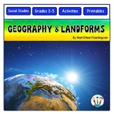 Geography Activities with 12 Major Landforms and Flip Book