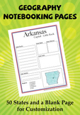 Geography - United States - Notebooking Packet