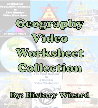 Geography Video Worksheet Collection