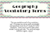 Geography Vocab Wall Terms