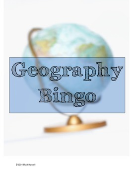 Geography Vocabulary Bingo