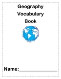 Geography Vocabulary Book