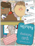 Geography Vocabulary Cards [Works with myWorld 2nd Grade S