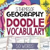 Geography Vocabulary Doodle Vocabulary for the 5 Themes of