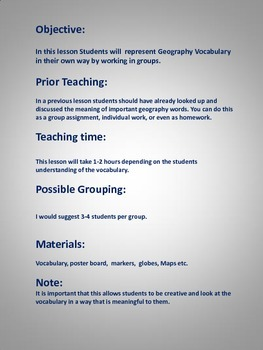 Geography Vocabulary Group Project
