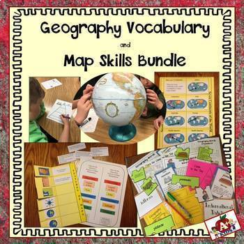 Geography Vocabulary & Map Skills Bundle