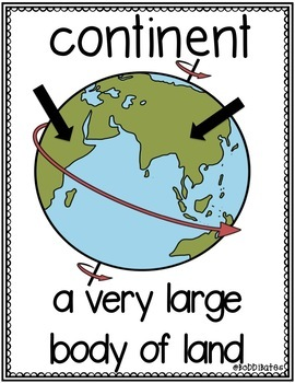 Geography Vocabulary Word Posters