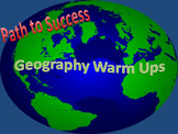 Geography Warm Ups and Task Cards