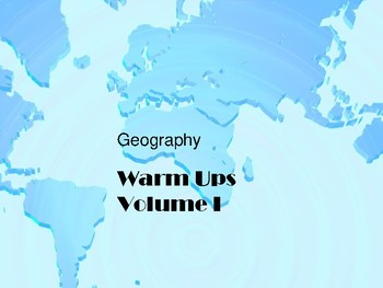 Geography Warm-up Volume 1