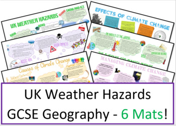 Geography Weather Hazards Learning Mats and Revision Sheets