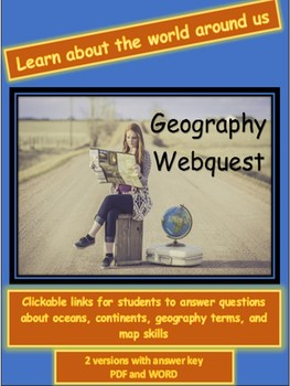 Geography webquest continents oceans terms and map skills tpt geography webquest continents oceans terms and map skills gumiabroncs Image collections