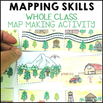 Geography Mapping Skills Whole Class Map Making Activity hands on and fun