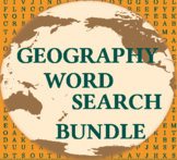 Geography Word Search Bundle