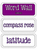 Geography and Map Skills Word Wall