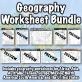 Geography Worksheet Bundle