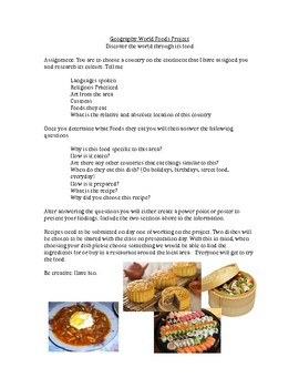 Geography World Foods Project