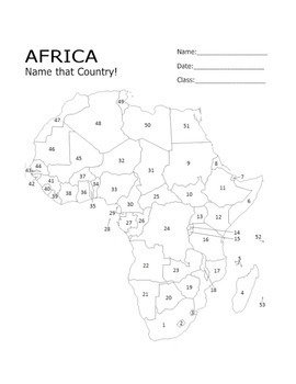 Geography, World History & African Studies: Africa Map Quiz