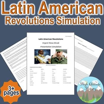 "Latin American Revolution ""Breaking News"" Simulation (Geography / World History)"