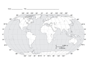 Geography - World Map activity