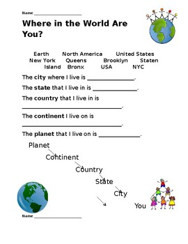 Geography Writing Differentiated
