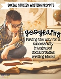Geography Writing Prompts for Latitude, Longitude, Oceans, and Continents