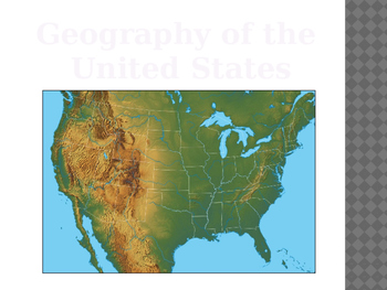 Geography and Climate of the United States