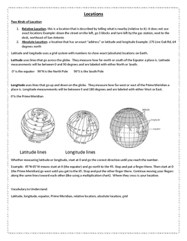 Geography and Five Themes Notes