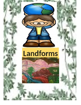 Geography and Landform Vocabulary and Activities