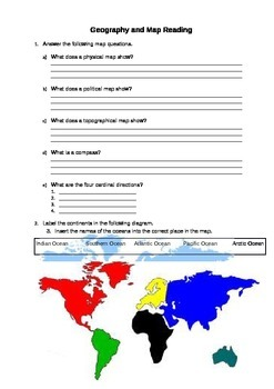 Geography and Map Reading for 3rd grade