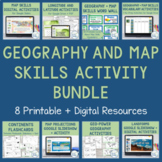 Geography and Map Skills Bundle with Printable and Digital