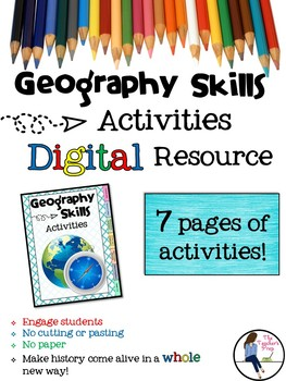 Geography and Map Skills Digital Activities for Google Drive