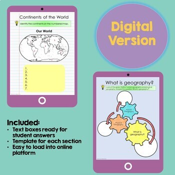 Geography and Map Skills: Geography Interactive Notebook