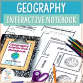 Geography and Map Skills Interactive Notebook | Print and Digital