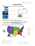 Geography and Natural Resources Test