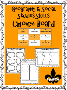 Geography and Social Studies Skills Choice Board