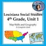 Geography and U.S. Regions Unit, Louisiana Gr. 4 Social Studies, Full Unit!