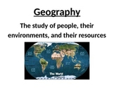 Geography and the Social Studies Word Wall