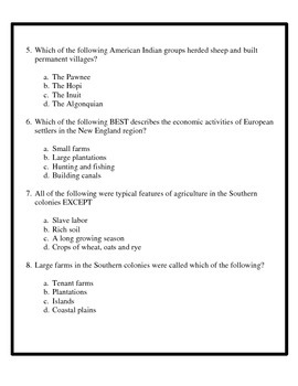 Geography assessment - 4th Grade Social Studies