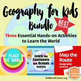 Geography for Kids Bundle: Three Essential Hands-on Activities