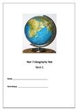 Geography geo-spatial skills test