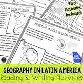 Geography in Latin America Reading BUNDLE (SS6G1, SS6G1a, SS6G1b)