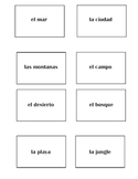 Geography in Spanish Vocab Basket Cards
