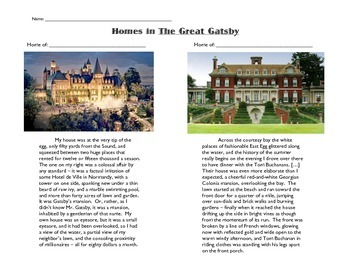 Geography in The Great Gatsby