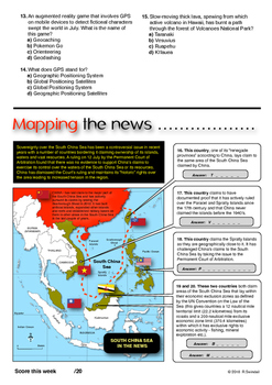 Geography in the News Quiz (International Edition) - August 2016