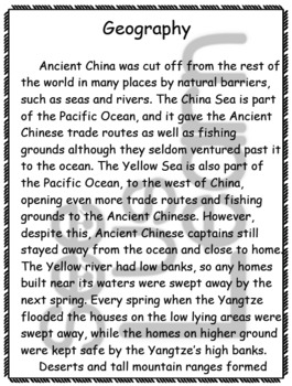 Geography in the Qin Dynasty Pack