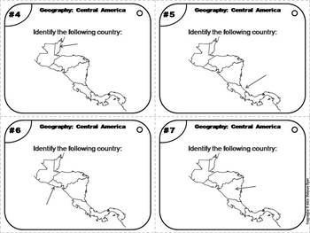 Geography Task Cards: Central America Task Cards (Map Skills Unit)
